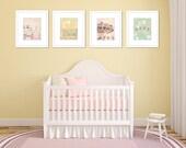 pastel nursery art carnival photography set pastels wall art baby girl little girls room decor 8x10 nursery prints