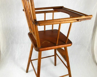 Antique Doll High Chair, Babydoll Furniture, Toy Highchair, Feeding Chair