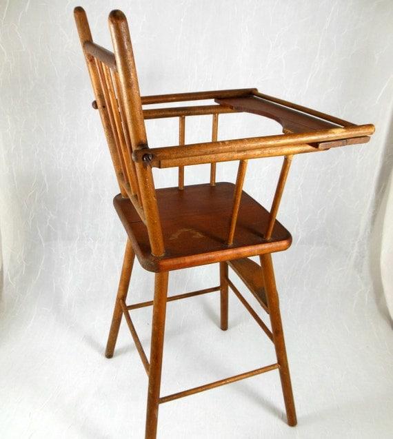 Antique Doll High Chair Babydoll Furniture Toy Highchair