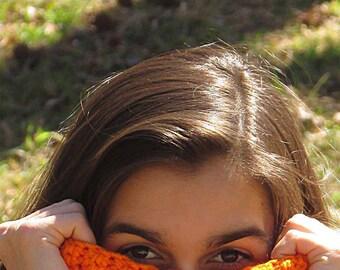 Orange Scarf, Orange Neckwarmer, Tangerine Cowl, Purple Zipper, Orange Scarf, Clemson Tigers, Winter Accessories, Winter Fashion, Skinny