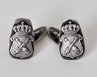Rare Silver Fraternal Medical School Cufflinks Poland