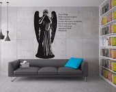 Dr. Who Inspired Weeping Angel with quote