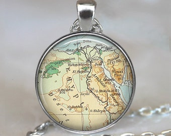 Egypt map pendant charm, Egypt necklace resin pendant, Egypt map jewelry, Egyptian jewelry, Egypt map necklace, keychain key chain