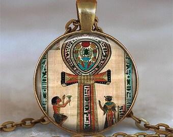 Ancient Egyptian Ankh pendant, Ankh necklace Egyptian jewelry Ankh jewelry Key of Life necklace symbolic jewelry key chain key ring
