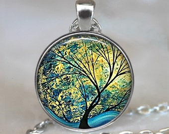 Summer Day necklace, tree jewelry tree necklace tree jewellery sunlight and tree nature lover necklace tree keychain key chain key fob