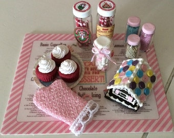 PLAYSCALE OVEN MITT - 1:6 Scale - Blythe, Momoko, Pullip, Barbie, Fashion Royalty