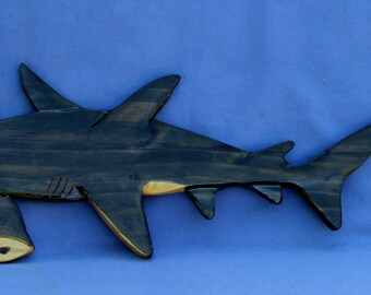 Shark Hammerhead Wall Hanging, Wall Plaque