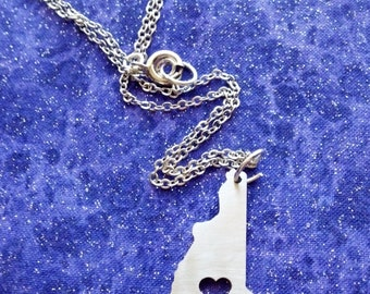 I Heart New Hampshire - Necklace Pendant or Keychain