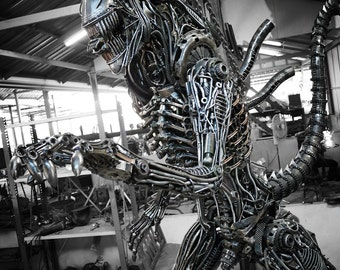 Recycled Metal Cruel Monster ( 2.45m / 8 ft height )