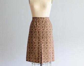 60s Pencil Skirt - Vintage 1960s Skirt - Reptilian Pencil Skirt