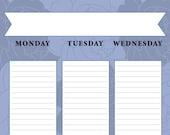 Blue Flowers - Weekly
