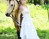 boho tattered country wedding wrap skirt