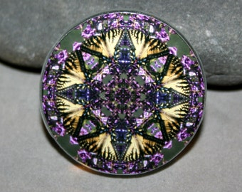 Butterfly Magnet Boho Chic Mandala New Age Sacred Geometry Hippie Kaleidoscope Wafting Spirit