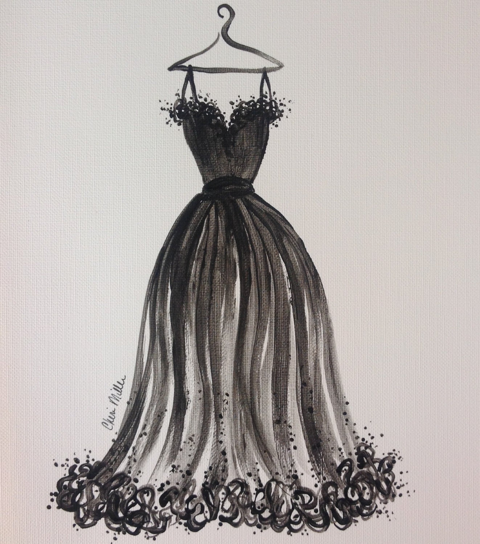 Fashion Illustration Little Black Dress fashion drawing