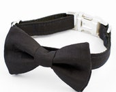 Bow Tie Dog Collar - Black