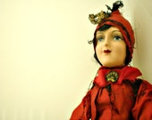 RESERVED for Holly - Antique Boudoir Doll Early 1920s WKS W-K-S Keeneye Flapper  Bed Doll
