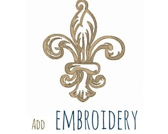 Add Embroidery, French Fleur de Lis, Machine Embroidery