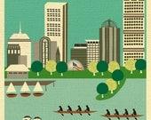 Boston Skyline Print Wall Art,  Boston Vertical Print, Boston Skyline  Poster, Boston Nursery, Boston Wedding Gift, Boston - style E8-O-BOSV