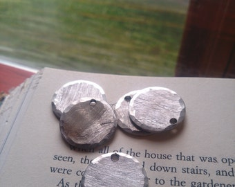 """3/4"""" Round SIlver Stamping Blanks (5) ~ Metal Stamping Blanks ~ Stamping Discs ~ Recycled Metal Blanks ~ Upcycled Jewelry Findings"""