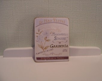 Dollhouse miniature sign seed packet one inch scale 1:12