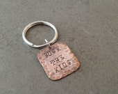 F The King - Stamped Copper Keychain - Game of Thrones