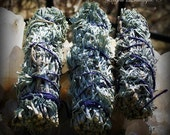 Reserved Listing for alphapheemail - 2 Mini Sacred Sage Smudge Wands and Dried Lilac Herb