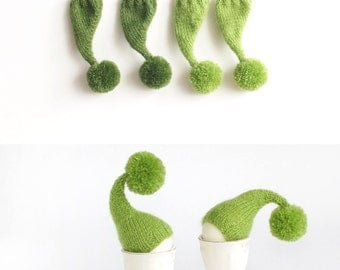 SALE 10% OFF Grass green Egg cozies, set of 4