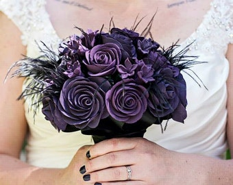 Gothic Wedding - Gothic Bouquet - Alternative Bouquet - Wedding Bouquet - Bridal Bouquet - Keepsake Bouquet - Heirloom Bouquet - Deposit
