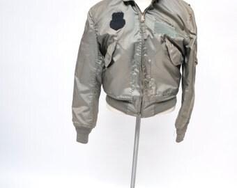 vintage flight jacket CWU-36/P bomber army small distressed