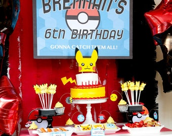 Pokemon Inspired NON-customized Printable Party Set - INSTANT DOWNLOAD
