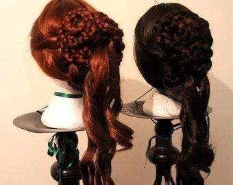 Victorian / Renaissance / Medieval Braided Wig - Custom Made