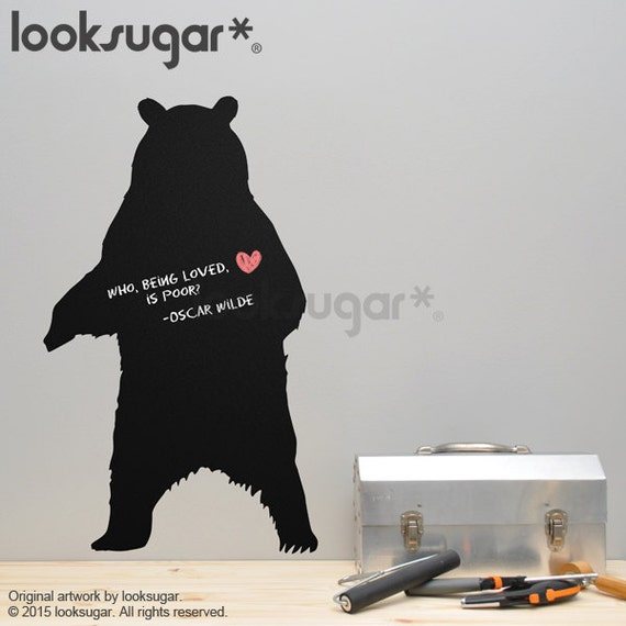 Grizzly Bear Chalkboard Decal - 0130