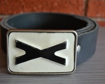 Vintage License Plate X  Belt Buckle