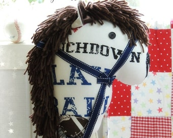 Hobby Horse, Handcrafted Children's Ride-On Toy, Cowboy Accessories Stick Horse, All American Sports