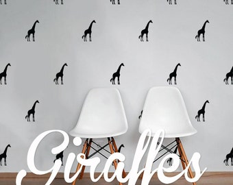Giraffes Wall Decal Pack, Animals Vinyl Wall Sticker Decal Art Pattern WAL-2201