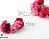 SELLING OUT - 20 Small Ranunculus Flowers in Fuchsia PINK - Artificial Flowers