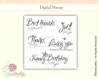 Digital Stamps - For You Occasion - Instant Download - Sentiments - Sayings - Quotes - Words