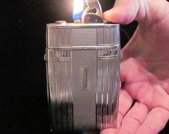 1940's Case Lighter Evans Trig-A-Lite Vintage Cigarette Case Art Deco Case Lighter EXCELLENT WORKING CONDITION
