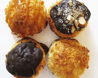8 Assorted Coconut Macaroons, Gluten Free, Non-GMO Coconut, Handmade