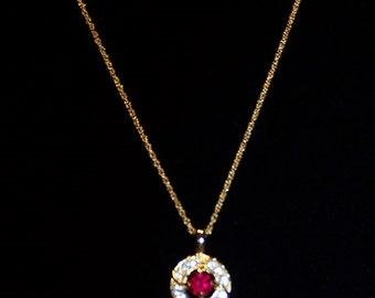 Rhinestone Round Rhinestone Necklace
