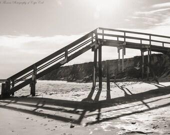 CAPE COD Photography ~ Town Neck Beach SANDWICH Massachusetts New England Travel Atlantic Ocean Beach Sand Nature Landscape Black White