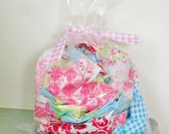Fabric Scrap Remnant Bag - miscellaneous designer fabric scraps - Tanya Whelan - Verna Mosquera - Heather Bailey - HALF pound all sizes