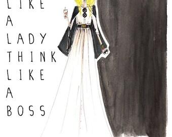 Fashion illustration print, fashion art, fashion print, inspirational print