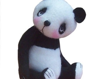 Bamboo - felt toy sewing kit to make this little panda