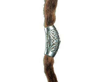 Swirly dread bead dreadlocks