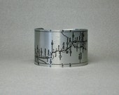 Route 66 Map Oklahoma to Amarillo Texas Cuff Bracelet Unique Gift for Men or Women