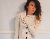 cozy cute button up cardigan oatmeal extra small