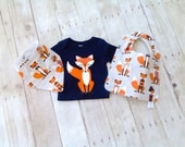 Fox Bodysuit and Bib - Baby Funny Bodysuit - Baby Boys Clothing