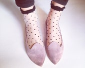 Loafers Shoes Pointy Old Pink Leather Handmade Slip on