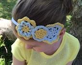 "Crochet headband pattern, pdf file, ""Bloom Headband"""